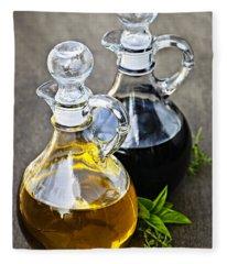 Oil And Vinegar Fleece Blanket