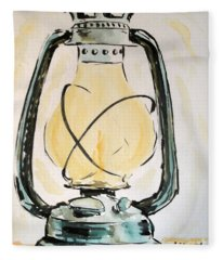 Oil Lamp Fleece Blanket