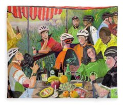 Oil- Luncheon Of The Cycling Party Fleece Blanket