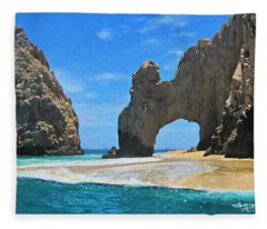 Lands End Arch - Digitally Painted Fleece Blanket