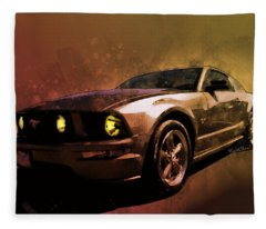 Oily Mustanger Slipping Into Darkness Watercolour Fleece Blanket