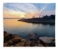 Oklahoma Gold Fleece Blanket