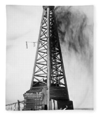 Oklahoma: Oil Well, C1922 Fleece Blanket