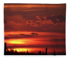 Oklahoma Sky At Daybreak  Fleece Blanket