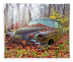 Ol' 49 Chevy Coupe Fleece Blanket