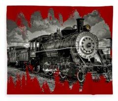 Old 104 Steam Engine Locomotive Fleece Blanket