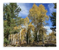 Old And New Growth Fleece Blanket
