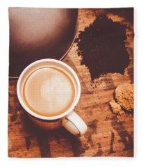 Old Artistic Vintage Tea Still Life Fleece Blanket