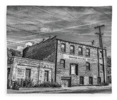 Old Asheville Building Fleece Blanket