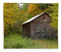 Old Barn New England Fleece Blanket