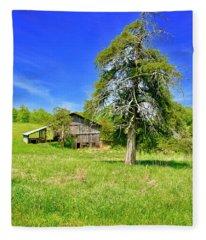 Old Barn, Smith Mountain Lake Fleece Blanket