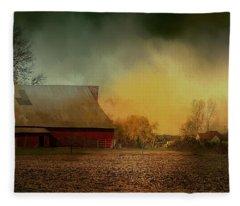 Old Barn With Charm Fleece Blanket