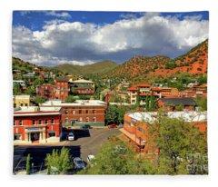 Old Bisbee Arizona Fleece Blanket