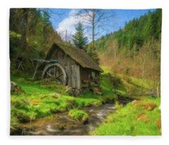 Old Black Forest Mill Fleece Blanket