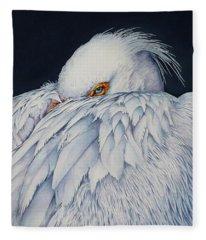 Old Blue Eyes Fleece Blanket