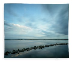 Old Blue Morning Fleece Blanket