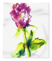 Old Blush - Rose Fleece Blanket
