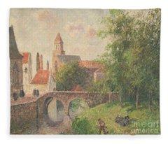 Old Bridge In Bruges  Fleece Blanket