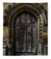 Old College Door - Oxford Fleece Blanket