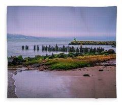 Old Columbia River Docks Fleece Blanket