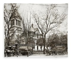 Old Courthouse Public Square Wilkes Barre Pa Late 1800s Fleece Blanket