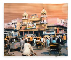 Old Dehli Fleece Blanket