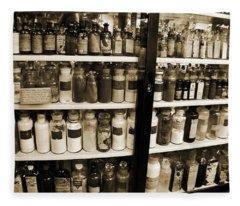 Old Drug Store Goods Fleece Blanket