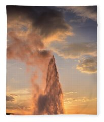 Old Faithful Yellowstone Fleece Blanket