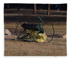 Old Farm Implement Lake George Co Fleece Blanket