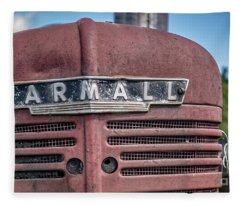 Old Farmall Tractor Grill And Nameplate Fleece Blanket
