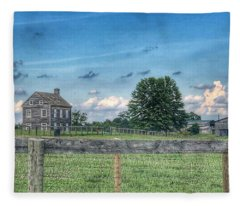 Old Farmhouse Fleece Blanket