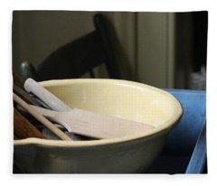 Old Fashioned Baking Tools Fleece Blanket