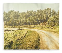 Old-fashioned Country Lane Fleece Blanket