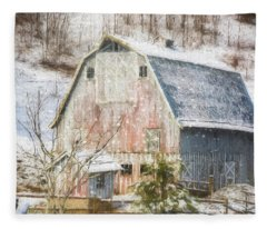 Old Fashioned Values - Country Art Fleece Blanket