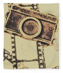Old Film Camera Fleece Blanket