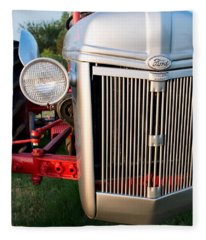 Ford Tractor 9n Tractor Front Fleece Blanket