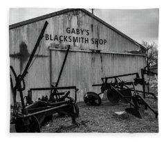 Old Frisco Blacksmith Shop Fleece Blanket