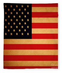 Old Glory . Square Fleece Blanket