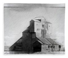 Old Grain Elevator Fleece Blanket