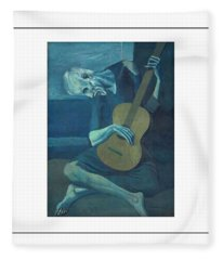 Old Guitarist Fleece Blanket