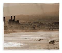 Old Hermosa Beach Fleece Blanket