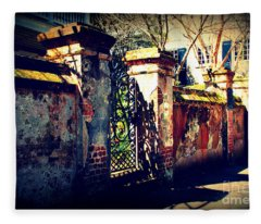 Old Iron Gate In Charleston Sc Fleece Blanket