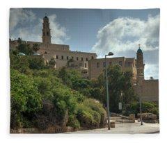 Old Jaffa Port 2 Fleece Blanket