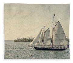 Old Key West Sailing Fleece Blanket