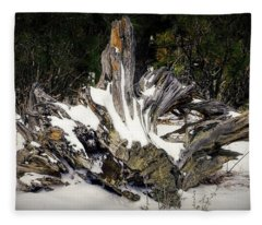 Old Logs Fleece Blanket