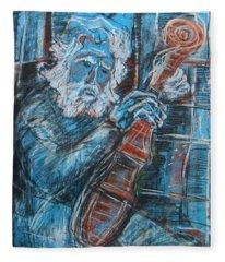 Old Man's Violin Fleece Blanket