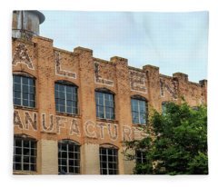 Old Mill Building In Buford Fleece Blanket