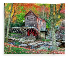 Old Mill Fleece Blanket