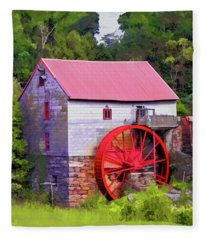 Old Mill Of Guilford Painted Square Fleece Blanket