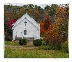Old New England Church Fleece Blanket